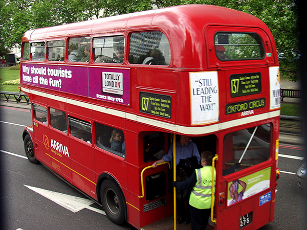 These double decker buses are awesome. - click thumbnail image to view full size image.