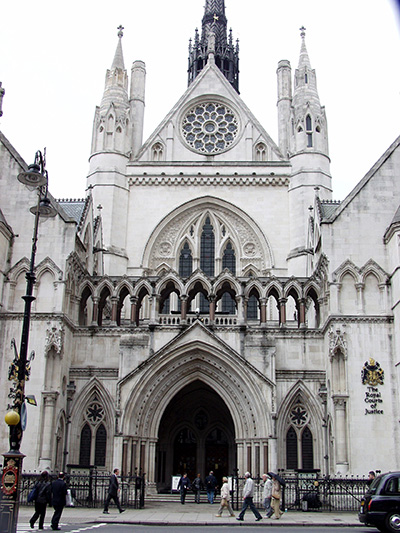 Royal Courts of Justice - click thumbnail image to view full size image.
