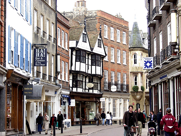 Street view in Cambridge.  - click thumbnail image to view full size image.