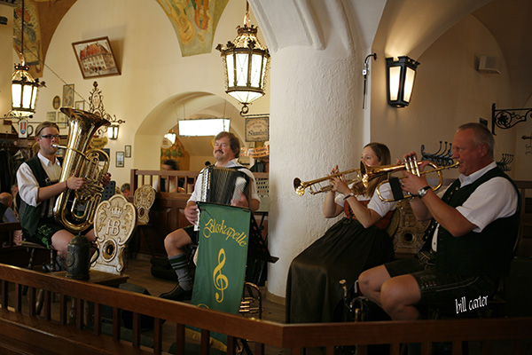The Hofbrauhaus is the cradle of Barvarian tavern culture not to mention good German beer and music. - click thumbnail image to view full size image.